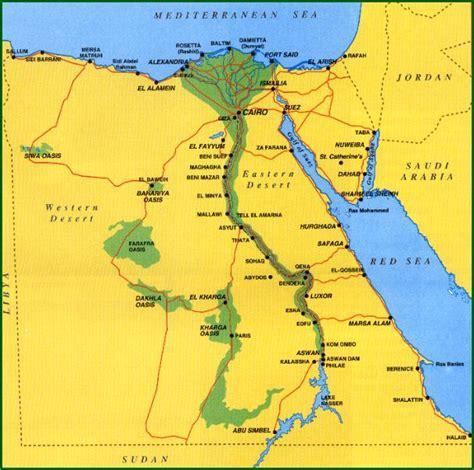 egypt map plan  trip  egypt
