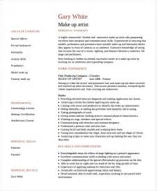 Artist Resume Templates by Artist Resume Template 7 Free Word Pdf Document