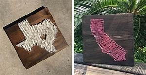 State String Art Wood Sign Jane