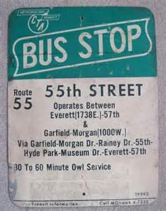 CTA Bus Stop Sign