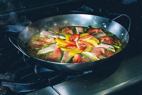 black steel paella pan matfer usa kitchen utensils