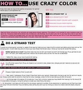 Hair Dye Instructions