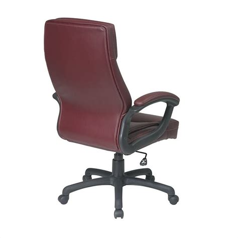 executive high back burgundy leather office chair ec6583 ec4