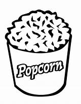 Coloring Popcorn Pages Printable Pop Sheets Corn Template Bag Becuo Clipart Cliparts Movie Sheet Kernel Bucket Clip Box Print Getcoloringpages sketch template