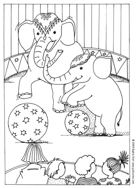 transmissionpress circus elephant coloring pages
