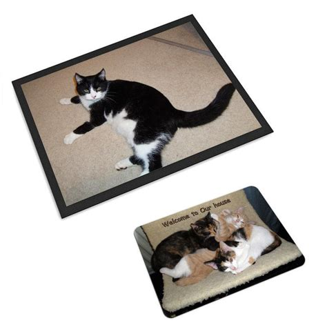 Pet Doormats by Pet Mats Personalised With Photos And Text On Mat For Cats
