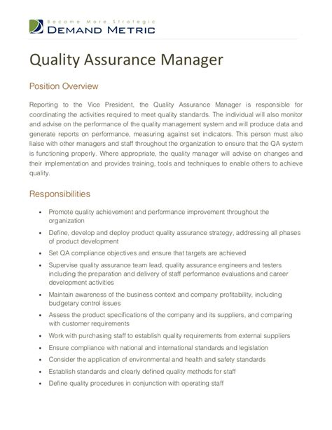 Quality Assurance Manager Job Description. Stress Signs Of Stroke. Great Depression Signs. Dark Leg Signs. Consciousness Signs. Movie Set Signs. Quirky Signs. Lost Signs Of Stroke. Stay Hydrated Signs Of Stroke