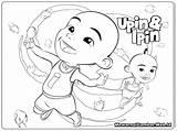 Upin Ipin Dan Mewarnai Gambar Coloring Mewarna Buku Boboiboy Sketsa Kartun Printable Untuk Hitam Putih Colouring Kanak Anak Ultraman Raya sketch template