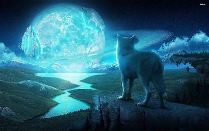 Wolf Howling Moon Wallpapers Ice Desktop Pack