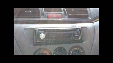 mitsubishi lancer stereo install doovi