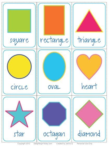 shapes collection lesson planet