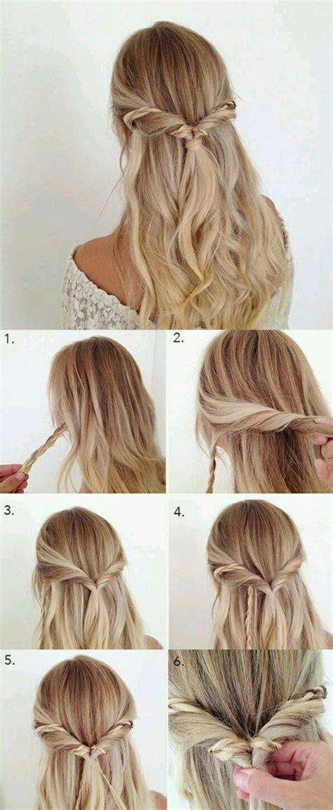 leichte frisuren fur lange haare zum selber machen