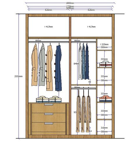 closet elevation  rangements pinterest wardrobes