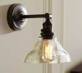 pb classic sconce vintage glass pottery barn
