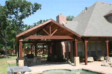 an outdoor cave this exquisite poolside open gable