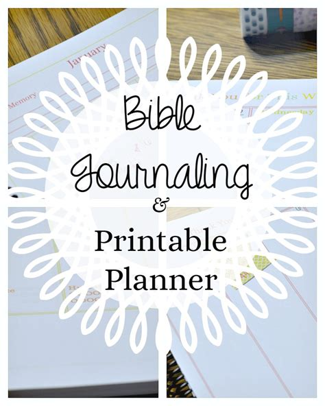 1 year bible journal beautiful printable pages blank calendar planner bible