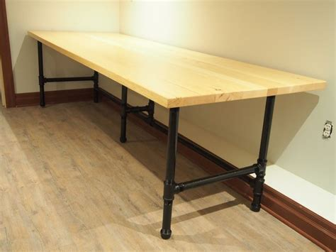 long wooden computer desk 10 best images about custom pipe computer desk on