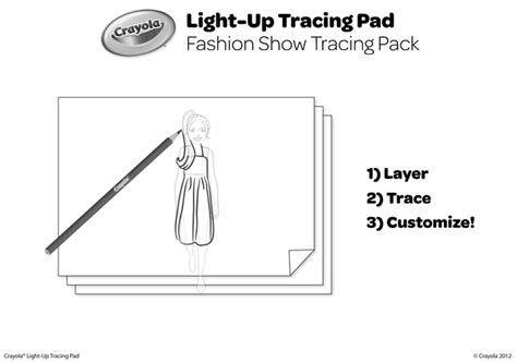 Fashion Show Tracing Pack Coloring Page