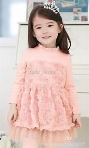 Cute New Autumn Dress Korean Girls Dress Skirt Childrenu0026#39;s Rose Dress Baby Girl Flowers Princess ...