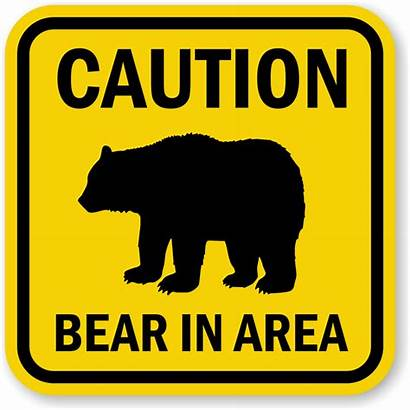 Bear Signs Sign Area Warning Caution Crossing