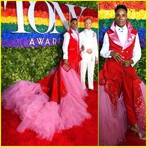 Billy Porter Poses With Husband Adam Smith Tony Awards