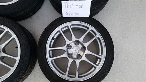 fs southeast 2006 evo 9 oem enkei wheels with tires