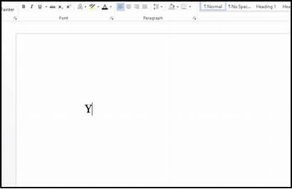 Blank Typing Screen