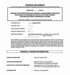 Tender specification template gallery template design ideas for Tender specification template