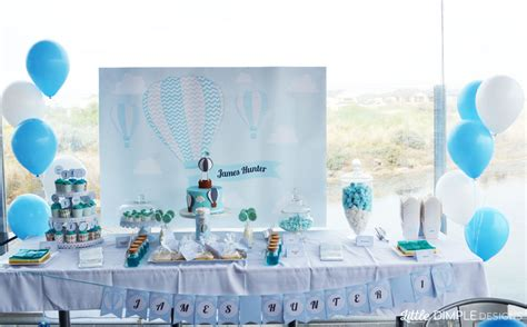 air balloon 1st birthday and baptism buffet dimple designs
