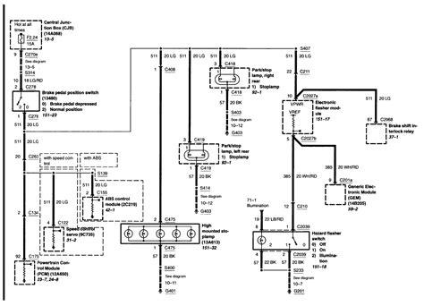 Ford Ranger Brake Light Wiring Diagram by 2002 Ford Ranger Brake Light Switch Wiring Diagram Auto