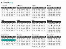 Kalender mit KW Download Freewarede