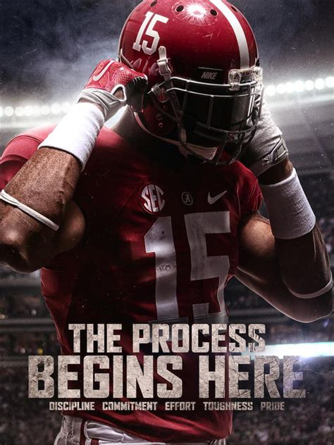 alabama football  twitter discipline commitment effort toughness pride  process