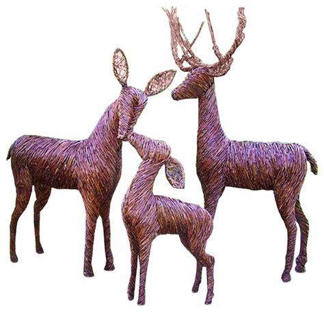 lifesize sculpted grapevine deer buck standing rustic