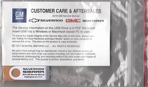 2016 Chevrolet Silverado Gmc Sierra Repair Shop Manual On