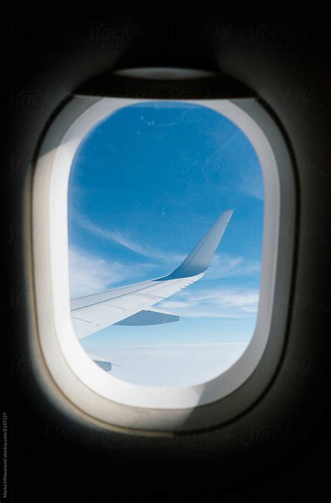 view  airplane window stocksy united