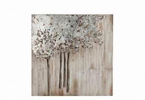 Décoration Murale En Bois : d coration murale arbre m tal et bois argent blanc antique ~ Dailycaller-alerts.com Idées de Décoration