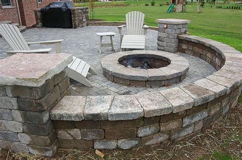 firepit wall seat wall design and installation in appleton wi
