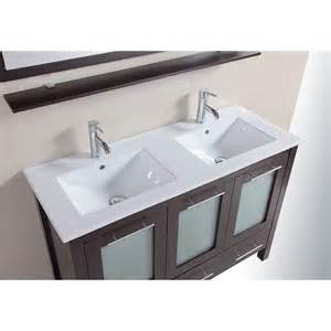 48 inch bathroom solid wood double vanity cabinet with top