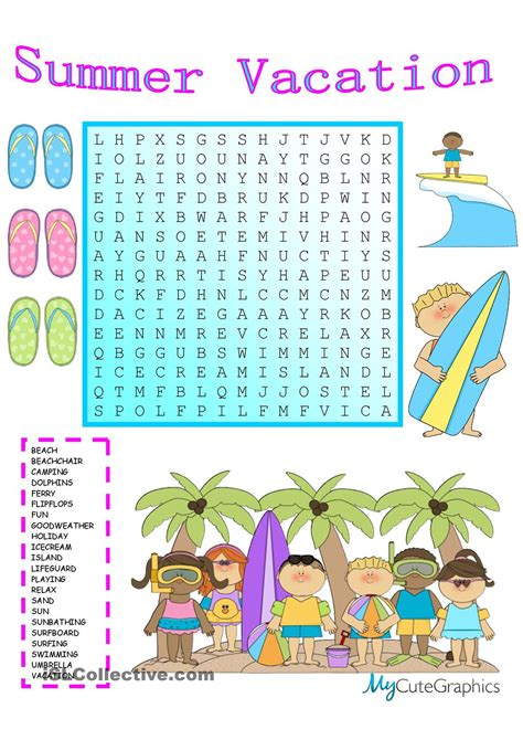 Summer Vocabulary Worksheets Pdf Free Informationacquisitioncom