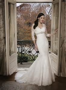 wedding dress 3 4 sleeve chic collection of mermaid wedding dresses with 3 4 sleeves cherry