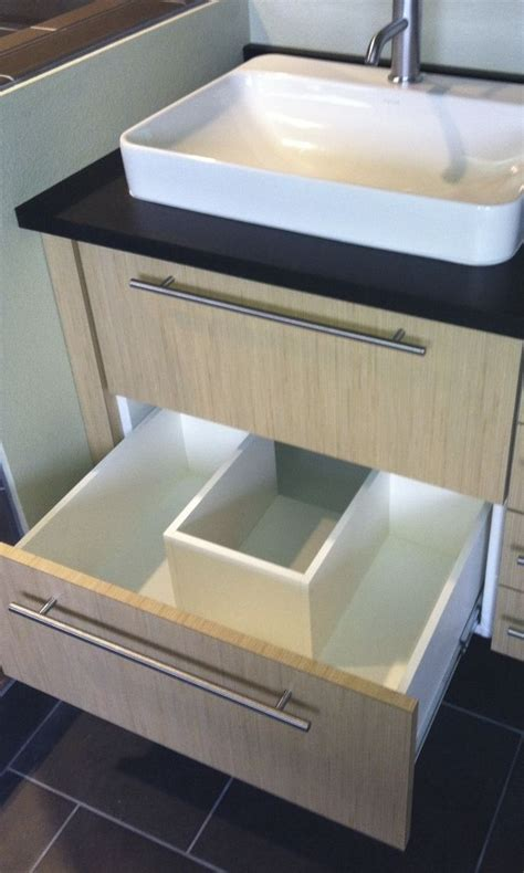 notched vanity drawer  accommodate p trap bath