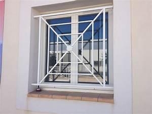 Fabrication et pose de grille de securite pour fenetres et for Grille de protection pour porte fenetre