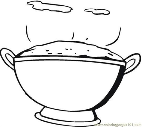 rice  coloring page  breakfast coloring pages