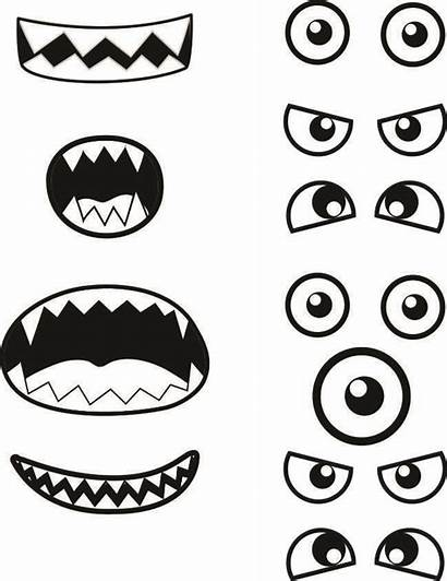 Monster Printable Eyes Template Printables Mouth Nose