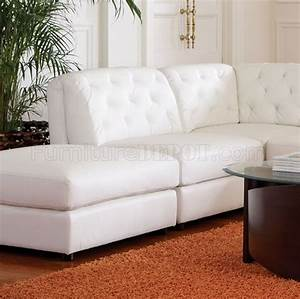 quinn sectional sofa 6pc white bonded leather 551021 coaster With quinn sectional sofa