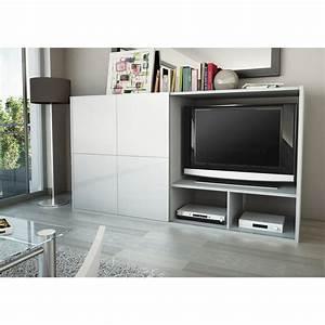 Meuble Cache Tv : stunning meuble tv cache ideas ~ Premium-room.com Idées de Décoration