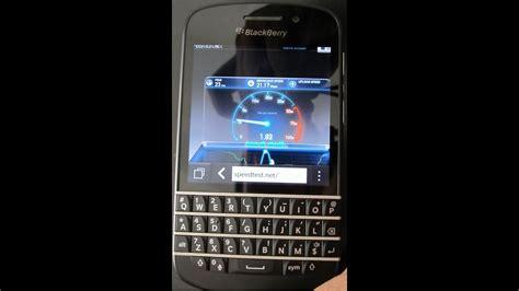 blackberry q10 lte speed test upload must