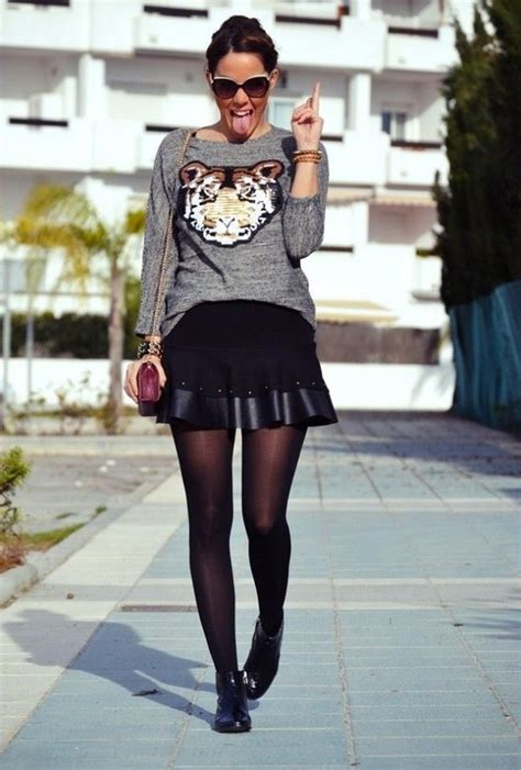 How To Wear Black Leather Skirts 2018   FashionTasty.com