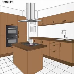 hotte pour ilot de cuisine choix d39electromenager With hotte de cuisine pour ilot central