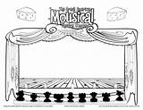 Coloring Stage Theatre Pages Cutouts Sketch Drama Template Theater Class Curtain Dragged Curtains Sketchite Hamilton Colorful Printablecolouringpages Larger Credit sketch template